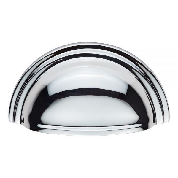 C47CP -Kitchen Cabinet Victorian Cup handle Polished Chrome Carlisle Brass