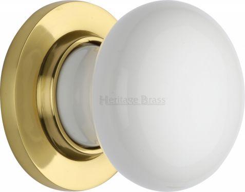 Heritage Brass Covered Escutcheon Plain White 5030